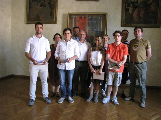 Il Sindaco Daniele Meluzzi premia quattro super maturi di Castel Bolognese