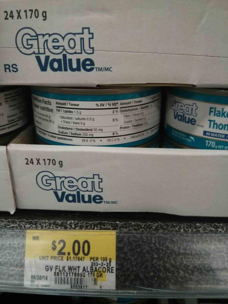 Walmart Canned Tuna