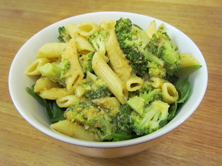 Penne and Broccoli with Creamy Chickpea Sauce