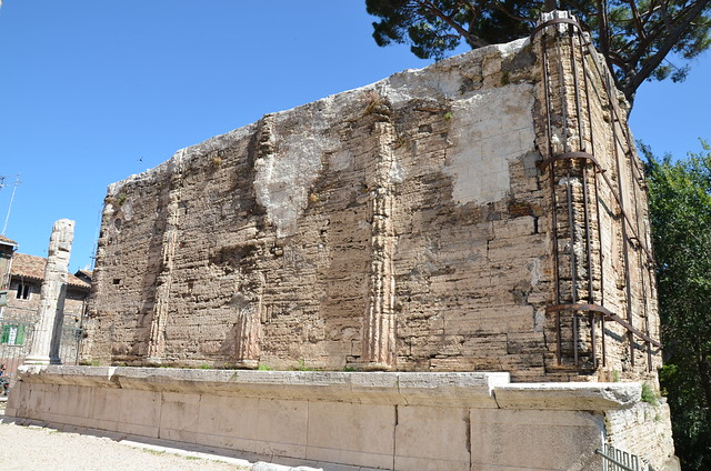 Temple of Tiburnus (or to the Sybil), built in the early 1st century BC on the acropolis of Tibur, Tivoli