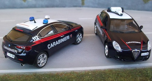 Autoparco AR Giulietta Carabinieri