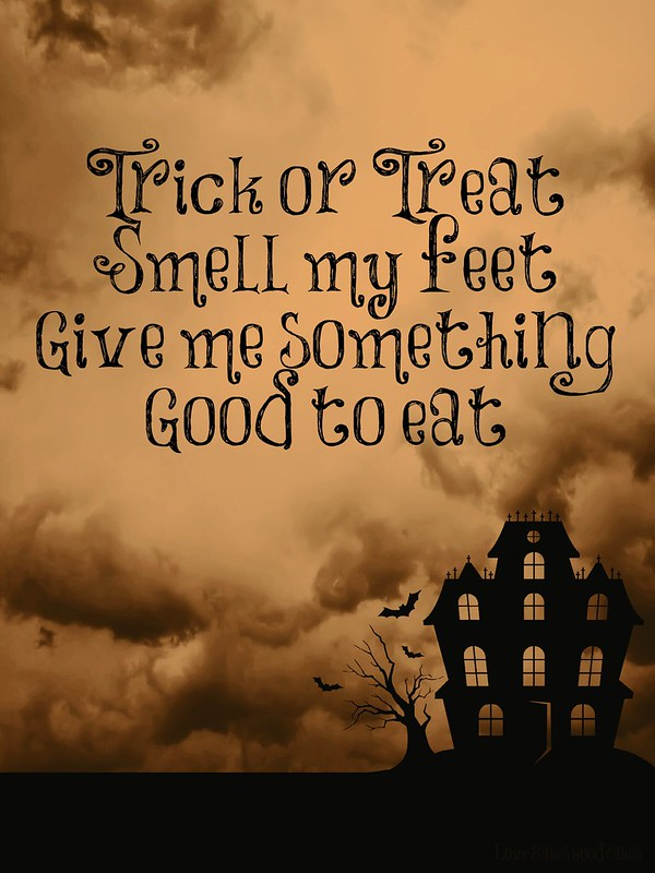 Trick or Treat printable.