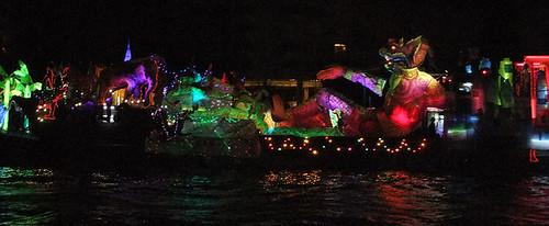 Boat Decorated for Loi Krathong on Bangkok's Chao Phraya River