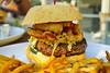 Medium Burger w/  bacon, jalapeño, Korean slaw, avocado aioli, crispy shallots, brioche