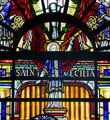 Henry Wood memorial window: an angel for St Cecilia