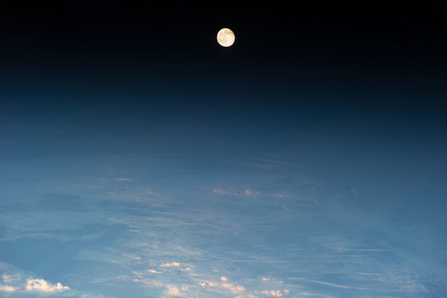 Waning Gibbous Moon Over Eastern Europe (NASA, International Space Station, 06/14/14)