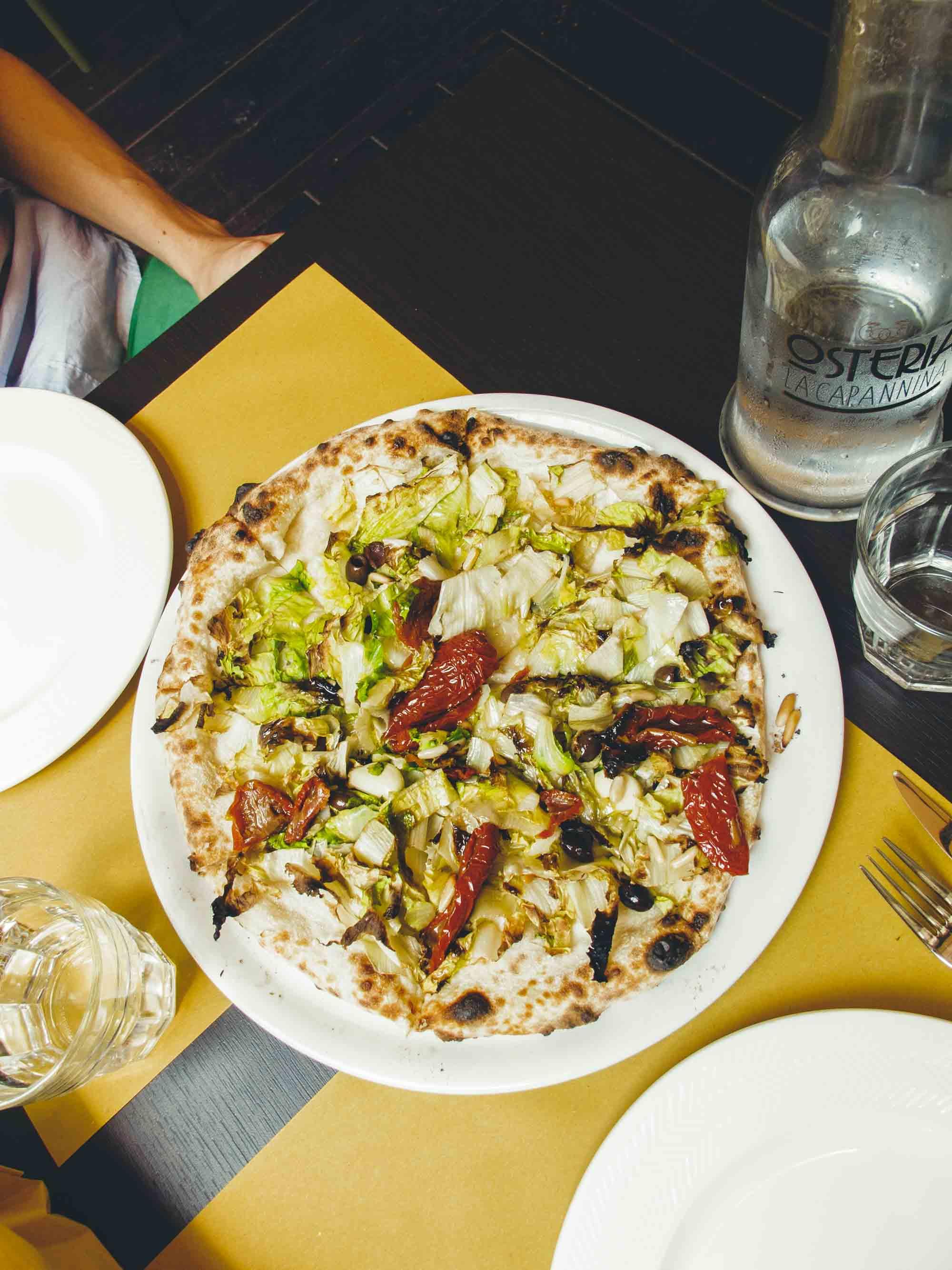 La Capannina Turin La Leggera Pizza