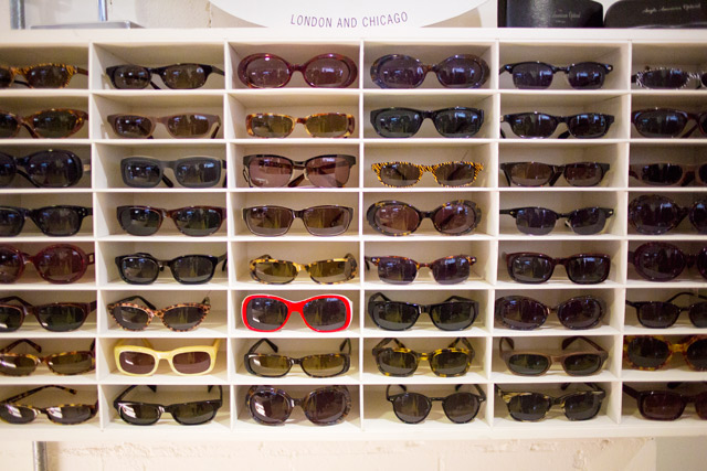 Shopping for sunglasses at Kilver Court