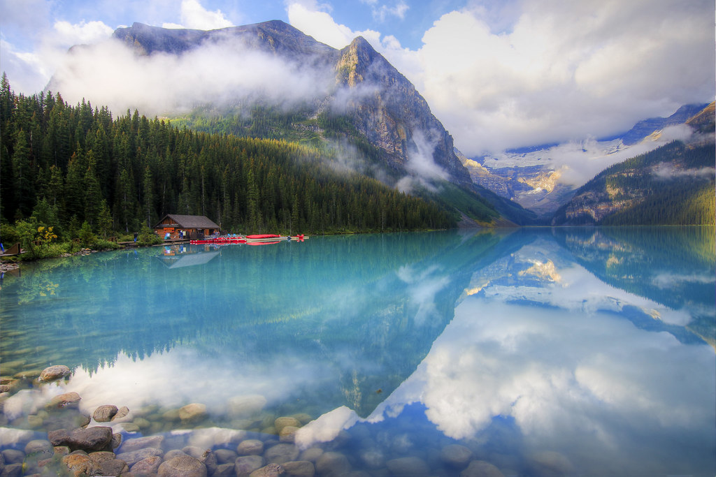 Misty Reflection, Lake Louise