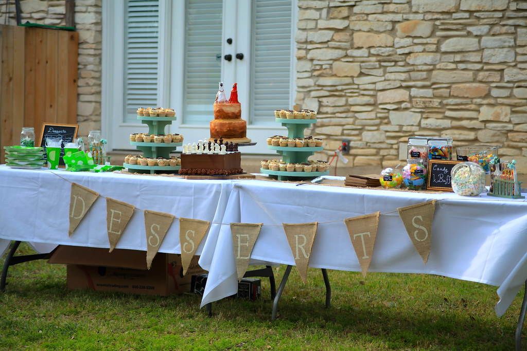 Desserts Table - cakes cupcakes and candy bar