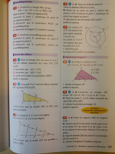 4eme - page 157 du manuel