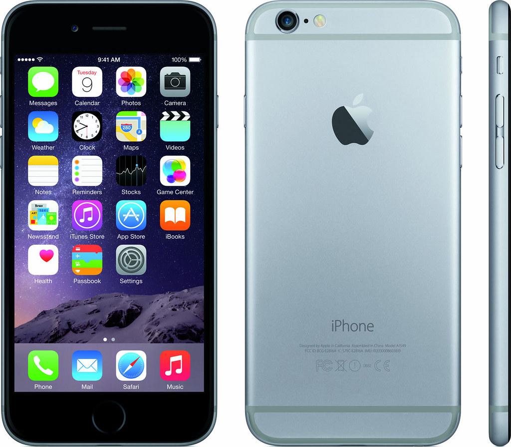 iPhone 6 実物大の製品画像