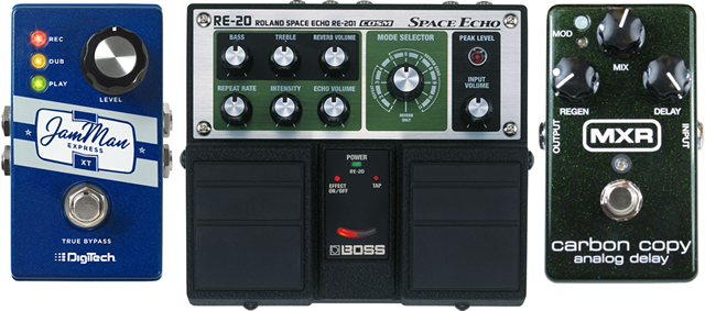 loop and delay pedals