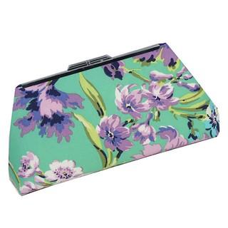 mint purple floral clutch cover