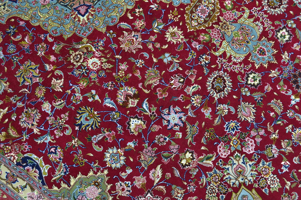Semi Antique Qareh Baghi 70 Raj Persian Tabriz Rug
