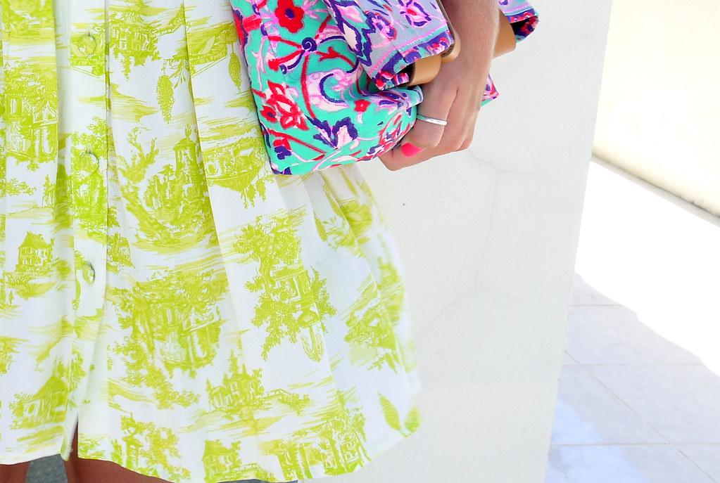 topshop neon dress