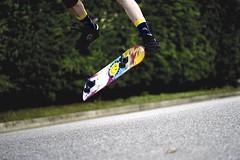 Do a Kickflip.
