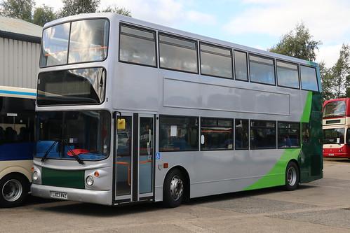 Norfolk Green LX03BVZ at Bus & Coach World in Blackburn.