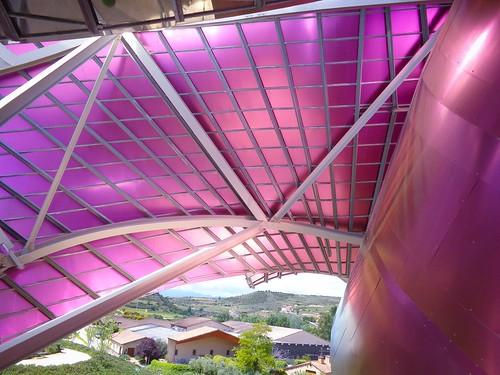 Detalle cubierta hotel Marqués de Riscal
