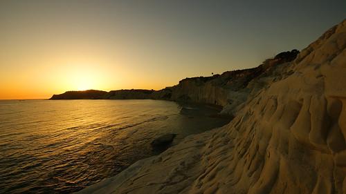 sunset sea rocks italia tramonto mare rocce sicilia agrigento realmonte scaladeiturchi greatphotographers vincega