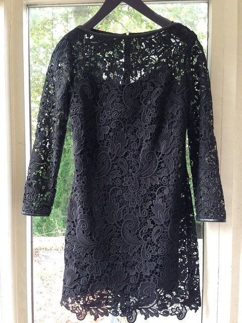 ralph lauren black lace cocktail dress