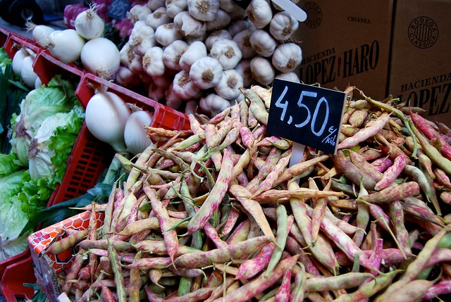 Beans at the Spanish greengrocers