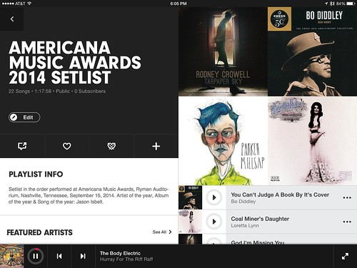 Americana Music Awards 2014 on Beats Music
