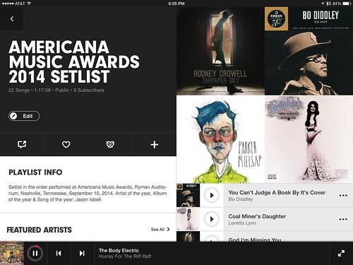 Americana Music Awards 2014 on Beats Music