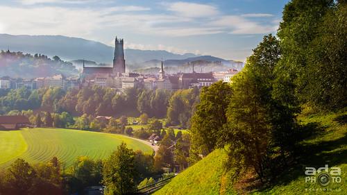 saint st schweiz switzerland suisse cathédrale nicolas pont fribourg freiburg ville visite vieille poya friborgo