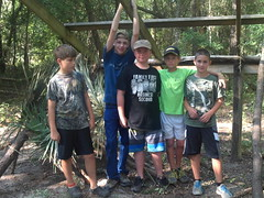 Anglers Build a Shelter