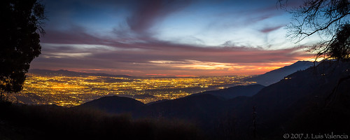 socal sunset afternoon cliff lights city blue