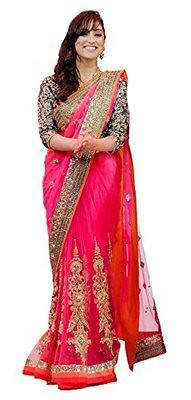 Yami Fame Pink Designer Saree Sarees on Shimply.com