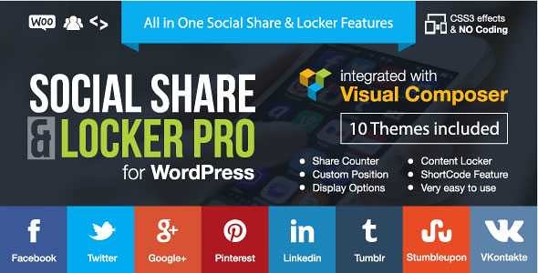 Nulled Social Share & Locker Pro Wordpress Plugin free download