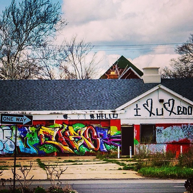 I #love boo. #detroit #streetart #graffiti #cloudporn