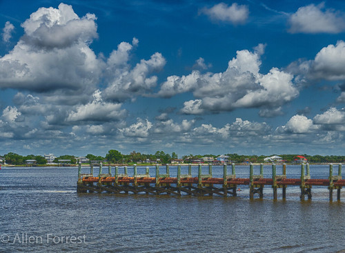 florida hdr mayport pier river jacksonville unitedstates