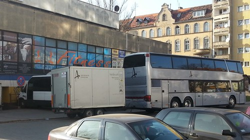 Borknagar tourbus outside Alibi club in Wroclaw- Poland