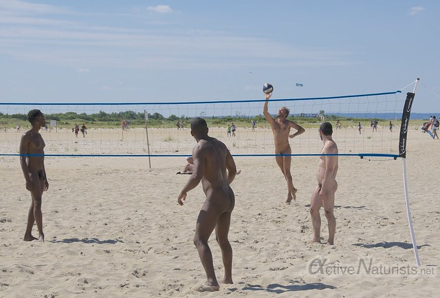 naturist volleyball 0003 Sandy Hook, NJ, USA