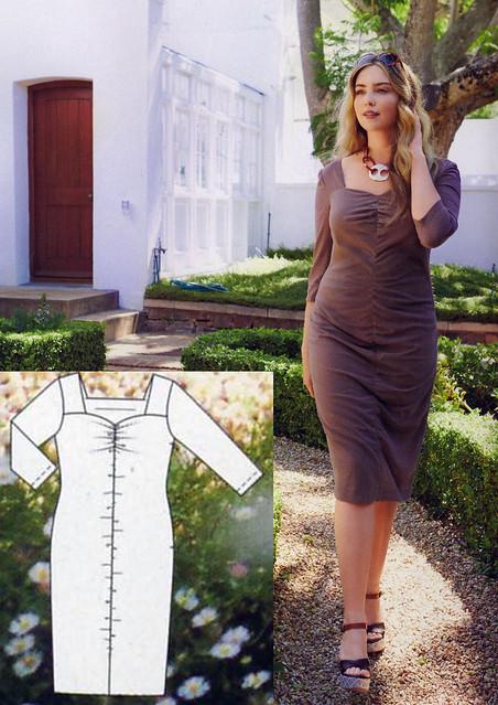 Burda-June-2014_Plus Size Front Ruched Dress