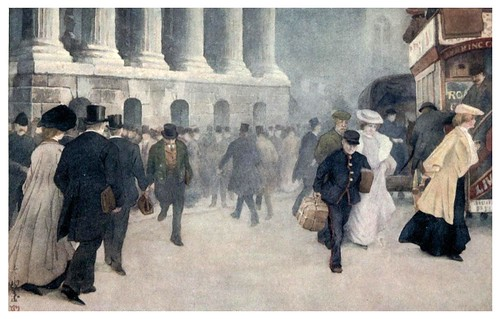 014-Caminando por Mansion House-The colour of London 1907- Yoshio Markino