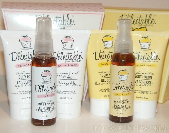 be delectable by cake beauty coconut & cream lemon & cream trio