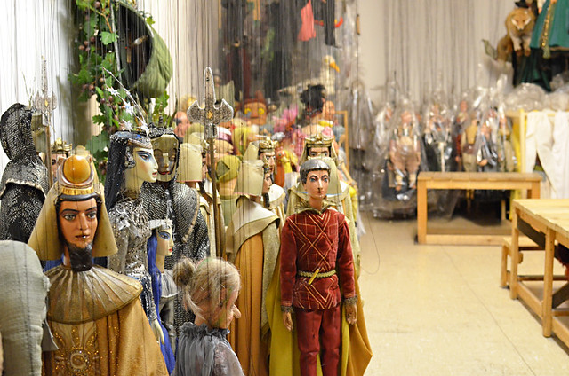 Inside the puppet room, Marionette Theatre, Salzburg, Austria