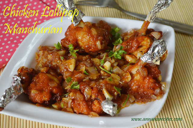 Chicken Lollipop Manchurian