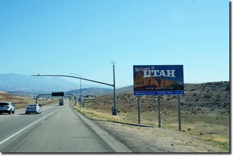 Arizona &  Utah State Line (I-15)