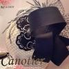 Tocado de seda salvaje con encaje bordado con cristales, plumas de avestruz y velo #canotierhats #seda #silk #bodas #bordado #wedding #fearthers #tocados