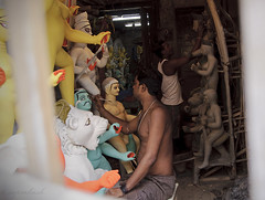 Durga Idols in the making