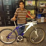 Camryn earned his bike after all his hard work!