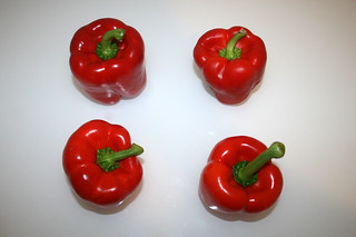 01 - Zutat rote Paprika / Ingredient red bell pepper