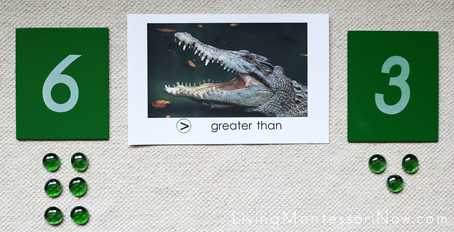 Greater Than Less Than Alligator Math Layout