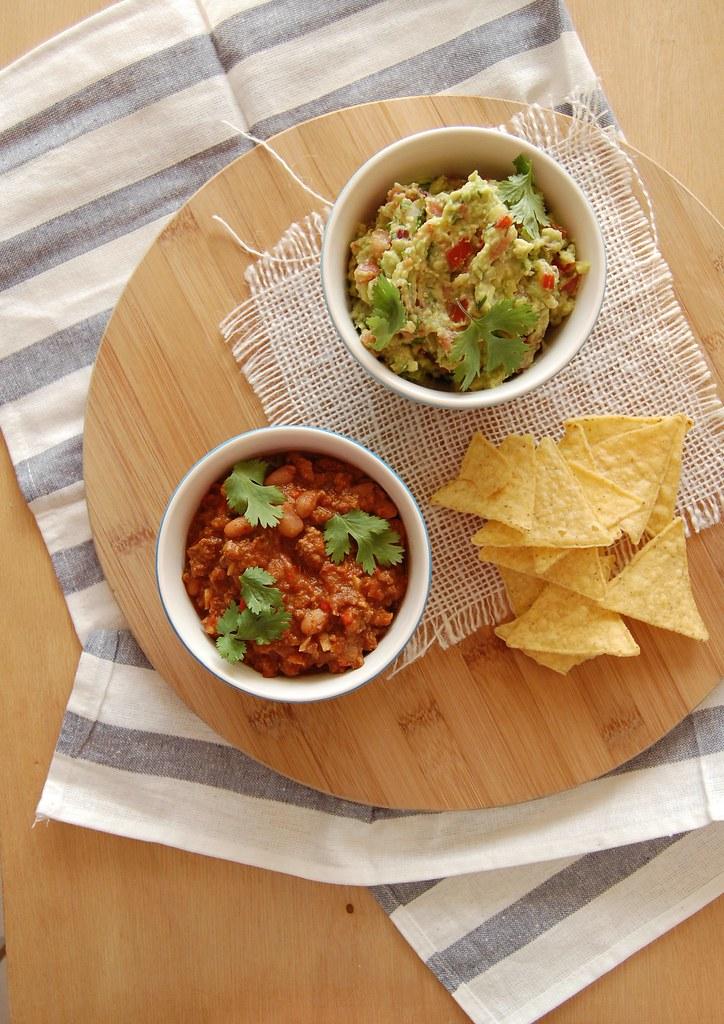 Chilli con carne + guacamole