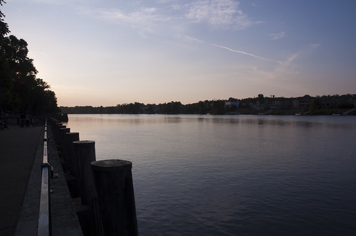park sunset usa water georgia nikon wasser unitedstates augusta riverwalk savannahriver richmondcounty d5000 fisherbray